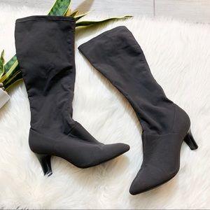 Alex Marie Gray Stitches Heel Tall Boots